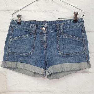 Ann Taylor Blue Loft Jean Shorts Sz 0